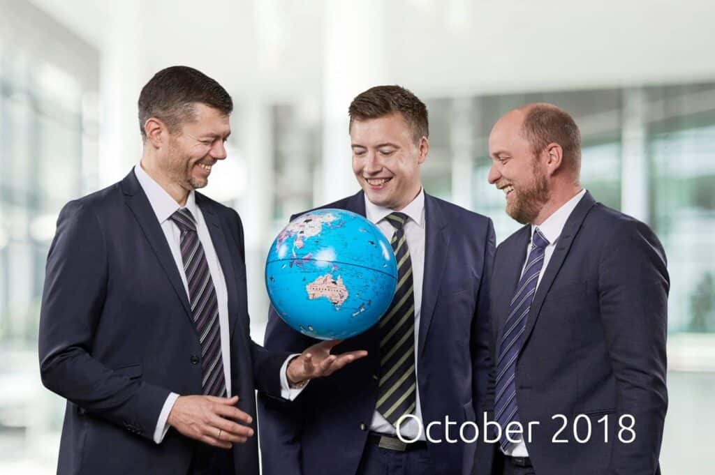 Blue World founders on October 2018